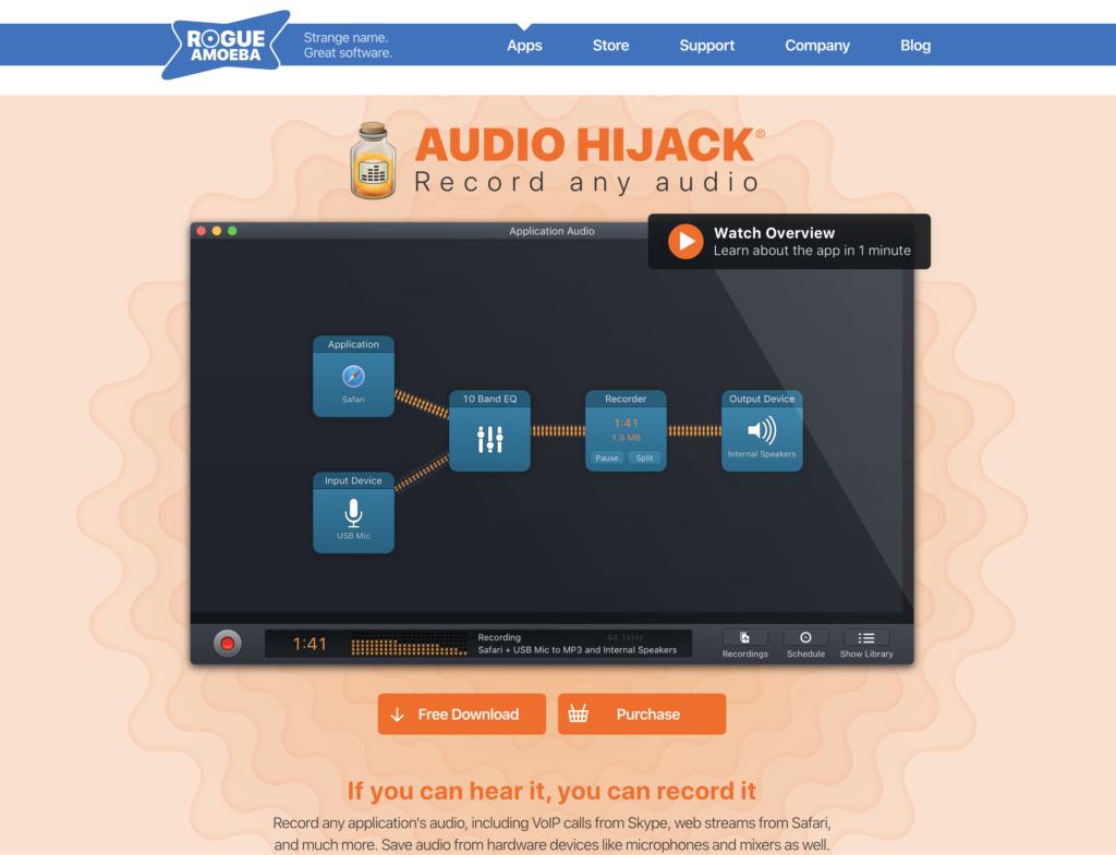 Screenshot of Audio Hijack Software