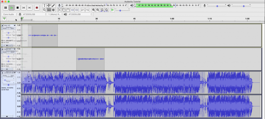 Screenshot of Audacity Automated Podcast Editing Software
