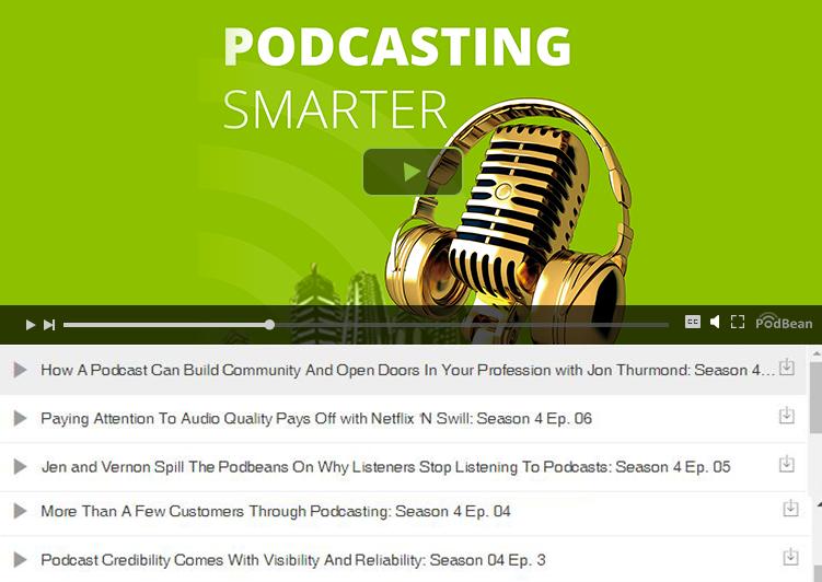 Podbean Multi-Episode Podcast Embed Player Screenshot