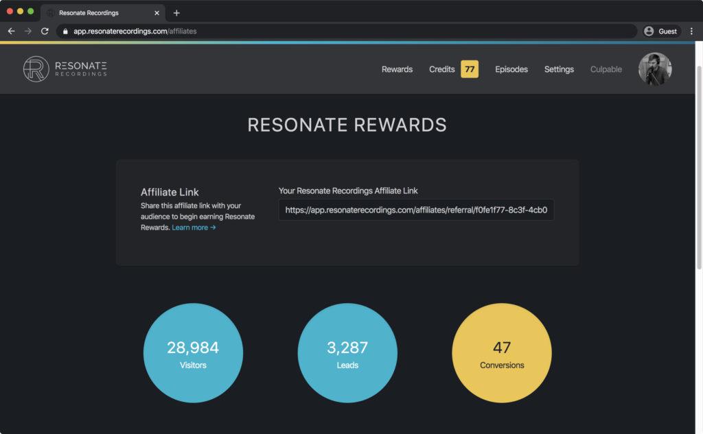 Resonate Rewards Analytics