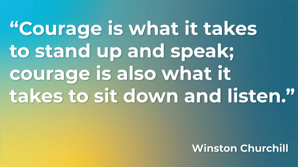 Quote from Winston Churchill on Courage