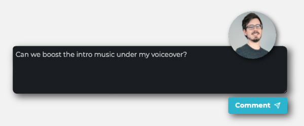 Screenshot of a comment box from the Resonate app