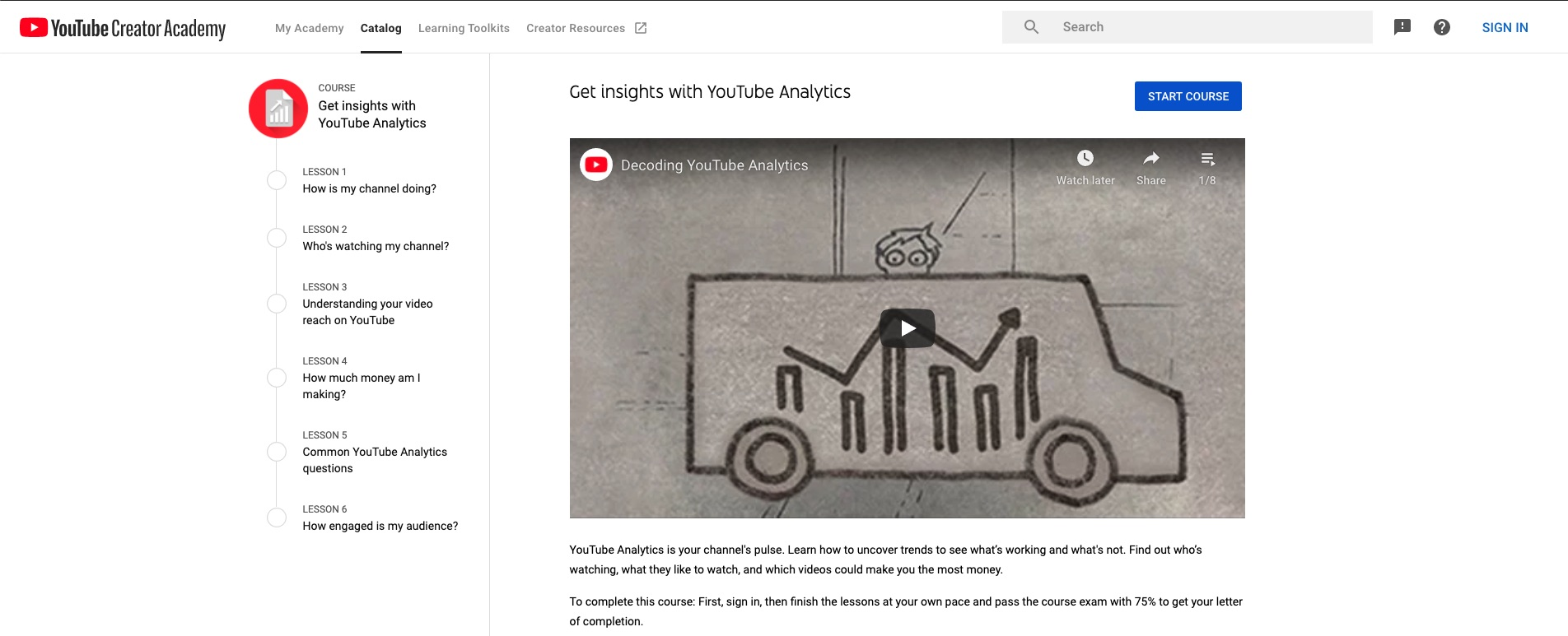 YouTube Studio Analytics