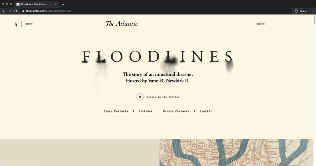Floodlines the Atlantic Podcast Website