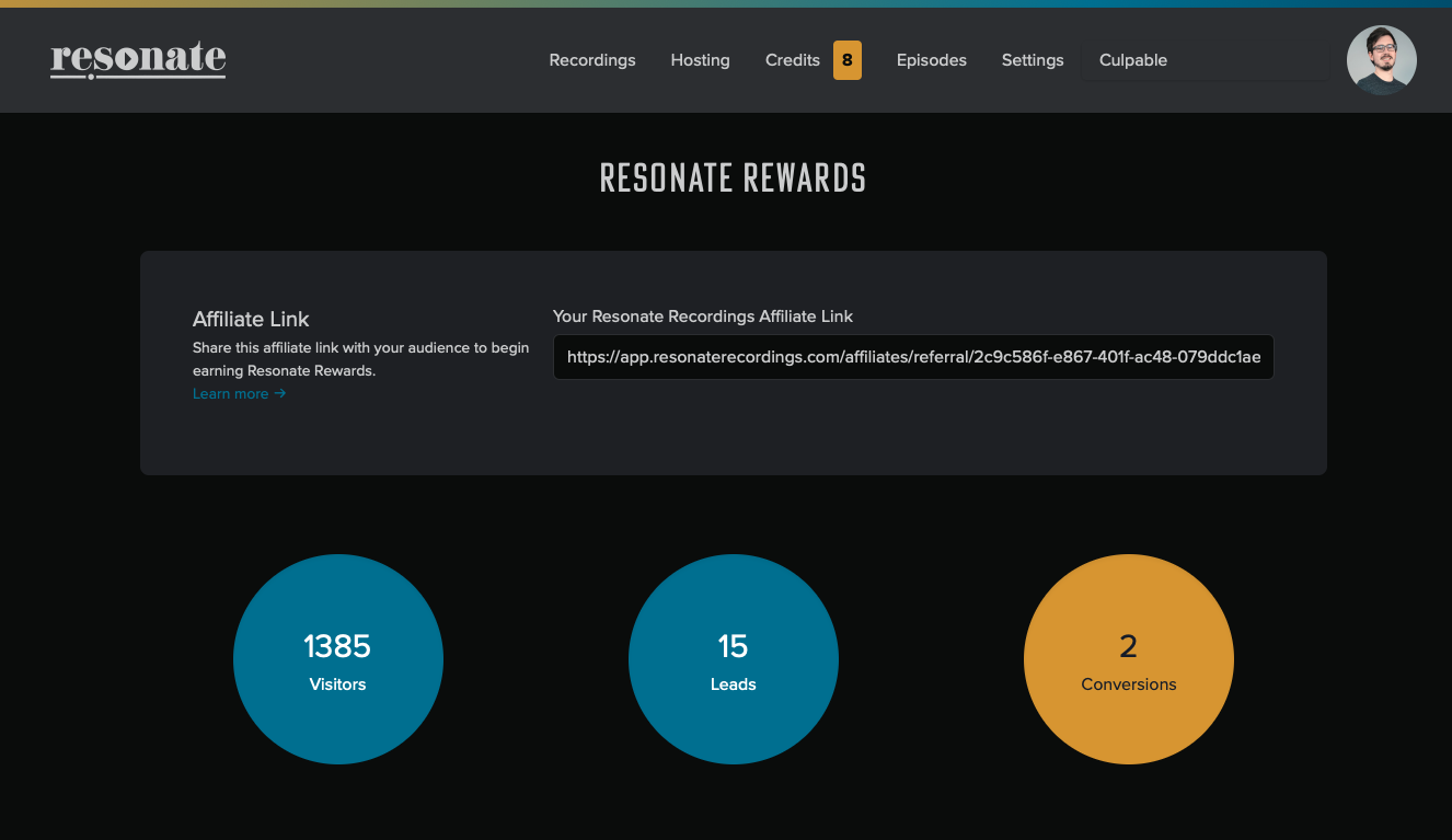 Track Your Earnings on Resonate Rewards